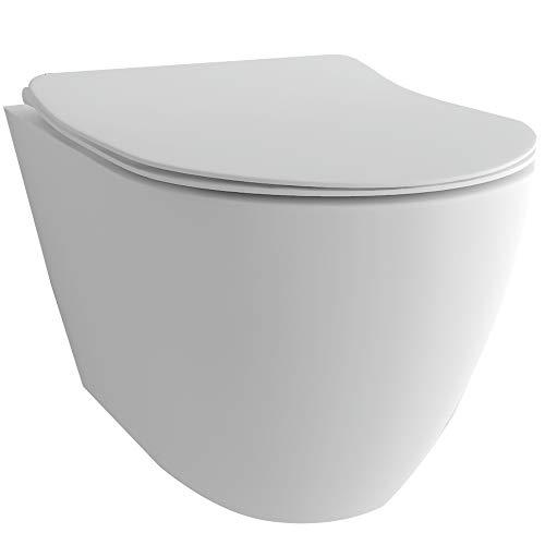 Diseño blanco cerámica KB04–Inodoro/inodoro con Nano–Reborde los WC/Asiento de inodoro con descenso automático de cierre