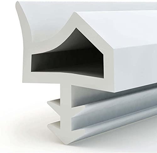Türdichtung Gummidichtung für Türzargen, Flügelfalzdichtung Zimmertürdichtung für Türen Fenste(5 M, Weiß)