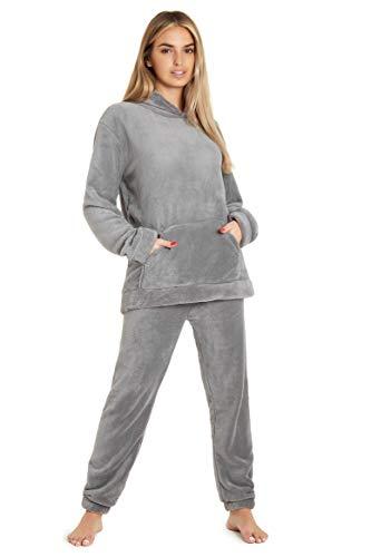 Pyjamas for Women Girls Ladies PJ's Comfy Snuggle Warm Fleece Twosie Pajama...