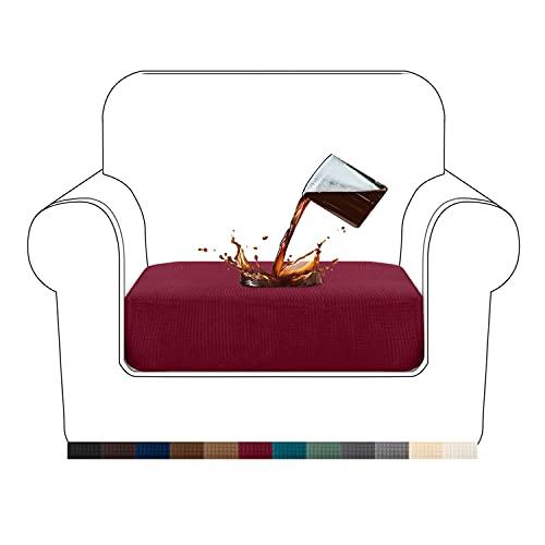 Granbest Premium - Funda de cojín para sofá(Rojo Vino, 1 Plaza)