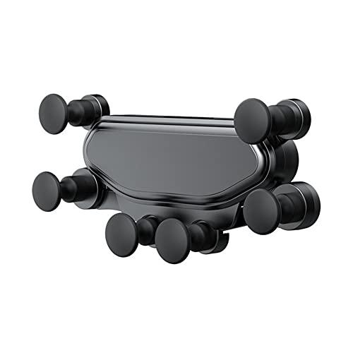 Soporte de montaje para teléfono de coche, gravedad auto que aprieta el sostenedor del teléfono de rotación de 360 ° de liberación automática para todos los teléfonos de 4-7 pulgadas