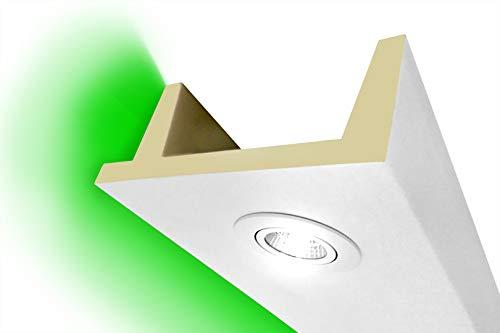 2 Meter | LED Kastenprofil | indirekte Beleuchtung | Stuck | lichtundurchlässig | stoßfest | Leiste | wetterbeständig | 80x200mm | LED-11