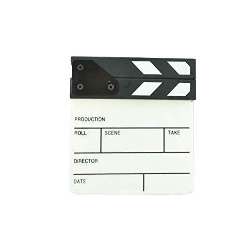 Toyvian 1 Pieza Tablero de Claqueta de Película, Tablilla de Película de Acrílico de 6.5 X 6 Pulgadas Escena de Acción de Corte Claqueta de Película Accesorio de Tablilla de Película