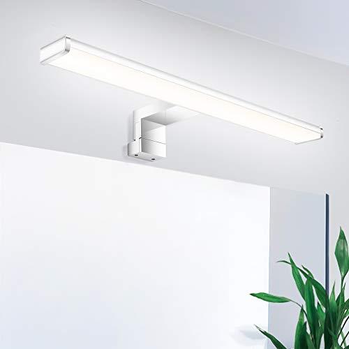 Oeegoo LED Spiegelleuchte, 40CM Badezimmer Spiegellampe, IP44 Wasserdichte Badleuchte, Flimmerfreie Wandleuchte Schminklicht Schrankleuchte, 8W 650LM Badlampe Neutralweiß 4000K