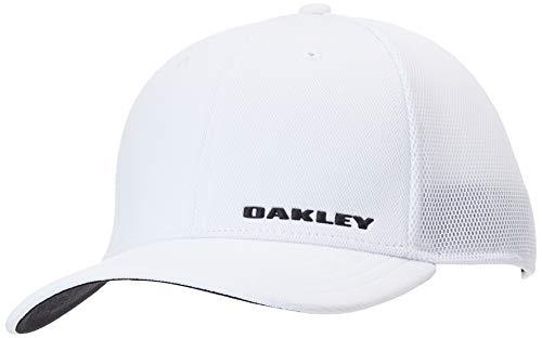 Oakley Gorra de béisbol para Hombre, Negro y Blanco, Large/X-Large