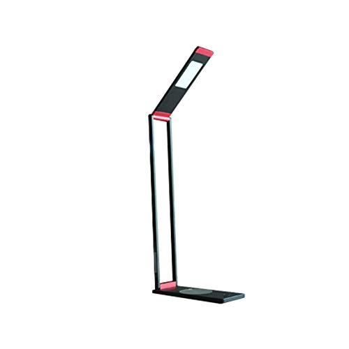 ZRYYD Lámpara de Mesa de LED portátil Plegable Brillo Interruptor táctil Ajustable de Carga inalámbrica Lámpara de Lectura de la Lectura del LED para el Estudio (Color : Red Black)