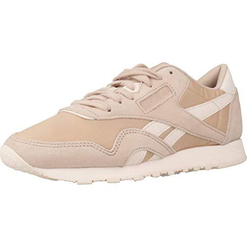 Reebok Damen Cl Nylon Fitnessschuhe, Mehrfarbig (Seasonal/Bare Beige/Pale Pink 000), 38 EU