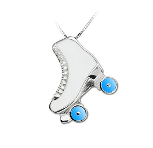 Rollschuhe Schmuck, jewel emaillierter light blue small - MIKELART