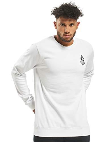 Volcom Herren Mike Giant Crew Sweatshirt, weiß, S