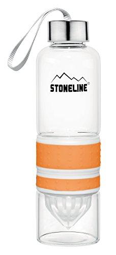 STONELINE  2 in 1 Trinkflasche mit Saftpresse, 550 ml, orange