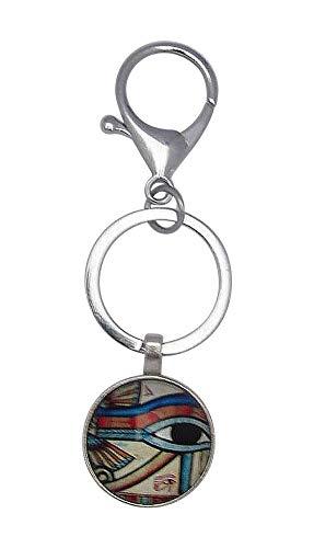 Schlüsselanhänger, Taschenschmuck, ägyptischer Gott Horus Auge, mit Karabinerhaken