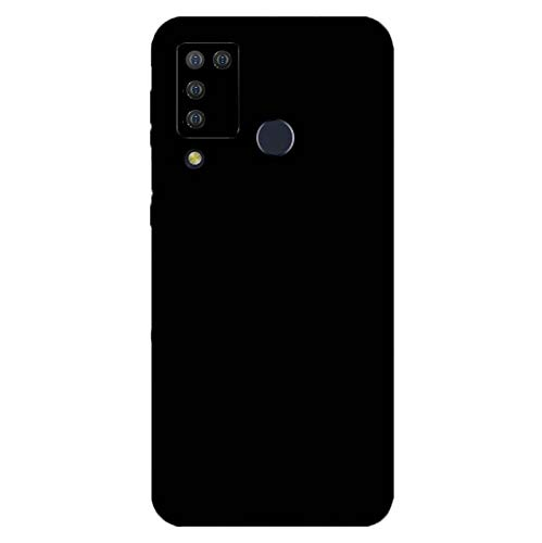 Easbuy Handy Hülle Soft TPU Silikon Hülle Etui Tasche Cover für Doogee N20 PRO (2020) Smartphone (Schwarz)