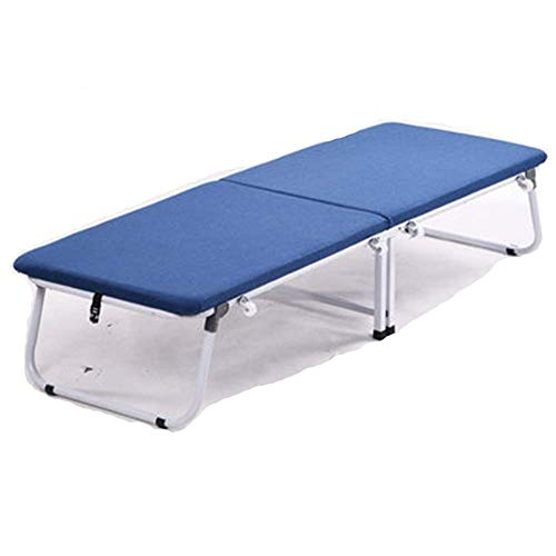 AI LI WEI Home Outdoor klapbed logeerbed eenpersoonsbed draagbaar hout grijs blauw breedte 75 cm