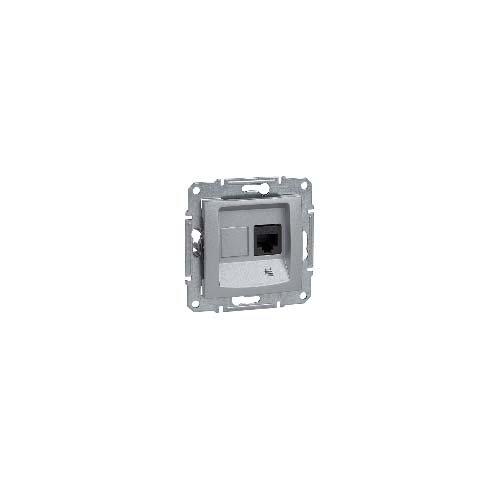 Schneider Electric SDN4700160 Toma RJ45 Categoría 6 UTP, Aluminio