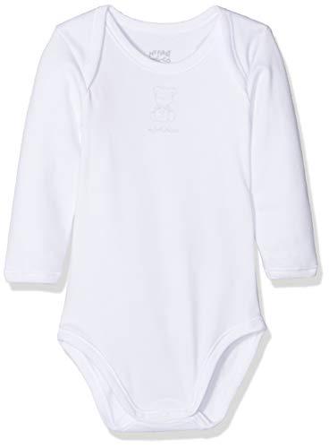 Chicco Set 2 Body Americano Manica Lunga in Caldo Cotone, Blanco (Bianco 033), 80 (Talla del Fabricante: 080) (Pack de 2) para Bebés
