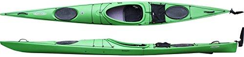 Tahe Marine Seaspirit PE Kajak Seekajak Tourenkajak mit Steuer u Skeg Einerkajak, Farbe:Grün;Ausstattung:Mit Skeg/Ruder