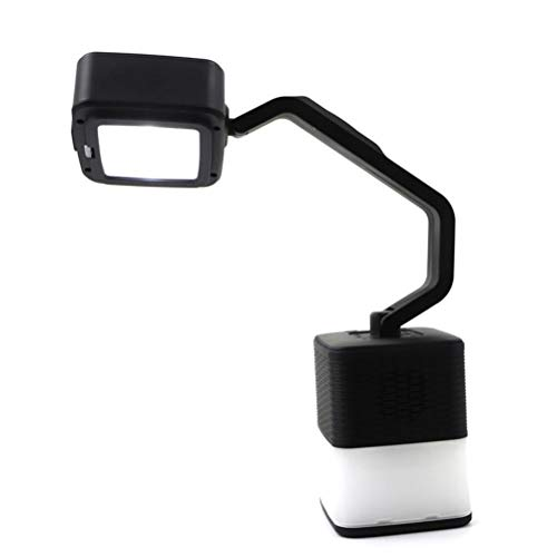 Gazaar Luz Bluetooth al aire libre portátil multiusos Camping luz Banco de energía Altavoz Bluetooth para senderismo Luz LED Altavoz a prueba de polvo,anti-caída NFC función para regalo de cum