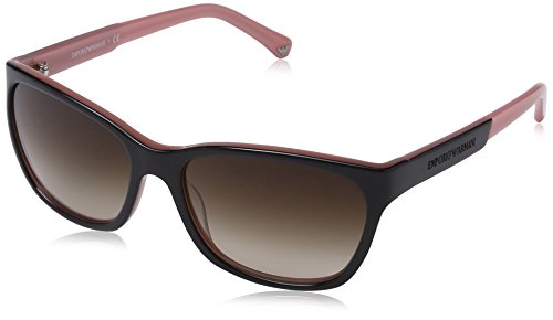 EMPORIO ARMANI 504613 Gafas de sol, Black/Opal Pink, 56 para Mujer