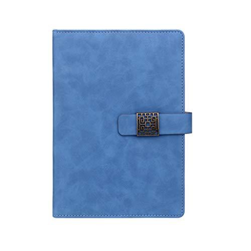 hsj Cuaderno ordenado simple grueso y exquisito cuaderno de estudio, bloc de notas de oficina ordenado (color: azul, tamaño: 14,8 x 21 cm)