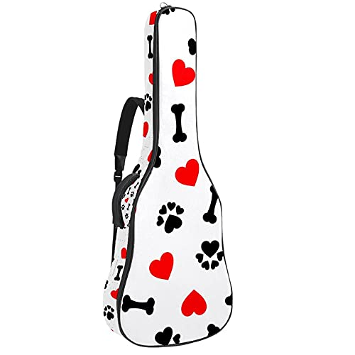 Funda de Guitarra Corazón rojo de pata de hueso Bolso de guitarra...