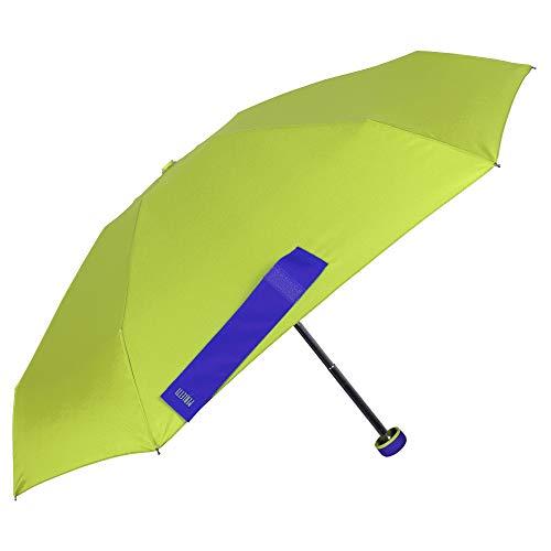 Ombrello Pieghevole Donna - Ombrello Super Mini Manuale Colorato con Contrasto - Ombrellino Portatile da borsa e Antivento - Diametro 90 cm - Perletti (Verde)