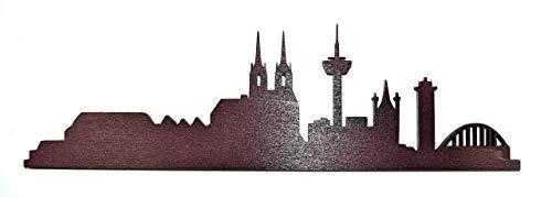 Skyline Köln | Stadt | Holzbild | Wandbild | Bild aus Holz | verschiedene Größen und Farben |