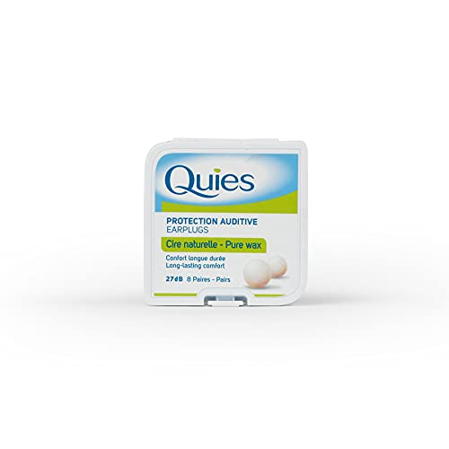 QUIES - protection auditive cire naturelle - boite de 8 paires