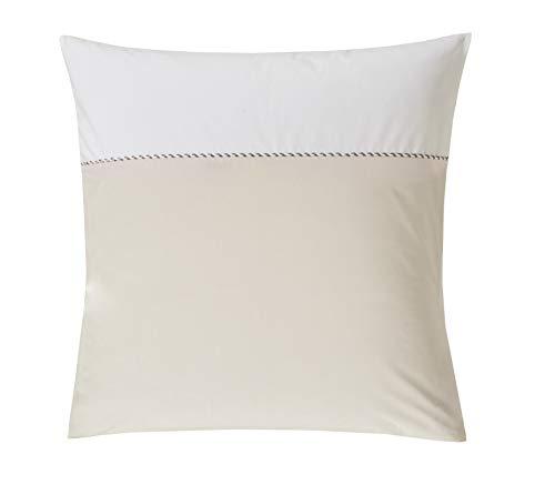 Blanc des Vosges Mystery Taie d'oreiller, Coton, Lin, 65 x 65 cm