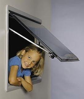 colore Bronzo compresi accessori Vetro di ricambio 1268x484 per finestra camper Seitz 1300x550