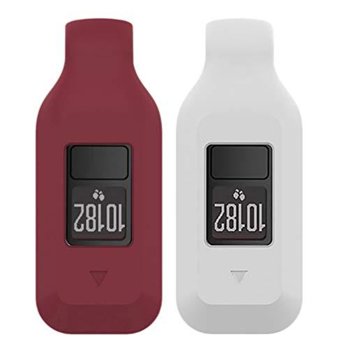 Hemobllo - 2 Correas de Repuesto para Garmin Vivofit 3 (Color Blanco y Rojo)