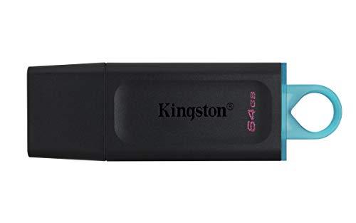 Kingston DataTraveler Exodia DTX/64GB Unidad Flash USB 3.2 Gen 1 - con capuchón Protector y Llavero en múltiples Colores