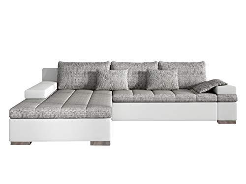 Mirjan24 Design Ecksofa Bangkok, Moderne Eckcouch mit Schlaffunktion und Bettkasten, Ecksofa für Wohnzimmer, Gästezimmer, Couch L-Form, Wohnlandschaft, (Ecksofa Links, Soft 017 + Lawa 05)