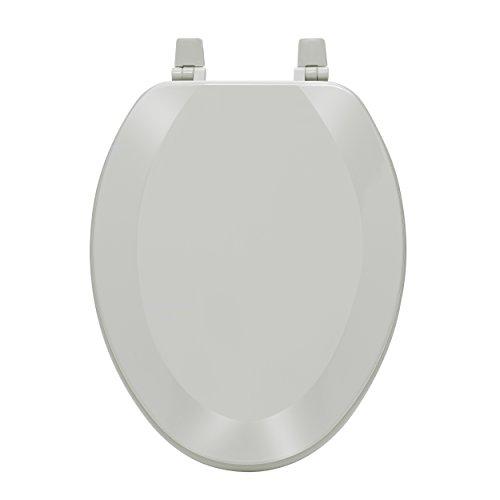 "Achim Home Furnishings TOWDELSL04 Fantasia 19"" Elongated Wood Toilet Seat, Silver"