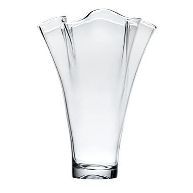 Lenox Organics Ruffle Wide Crystal Vase