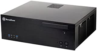 Silverstone Tek GD04B-USB3.0 Aluminum Front Panel and SECC Body Micro ATX HTPC Computer Case with 2X USB3.0 Front Ports Cases (Black)