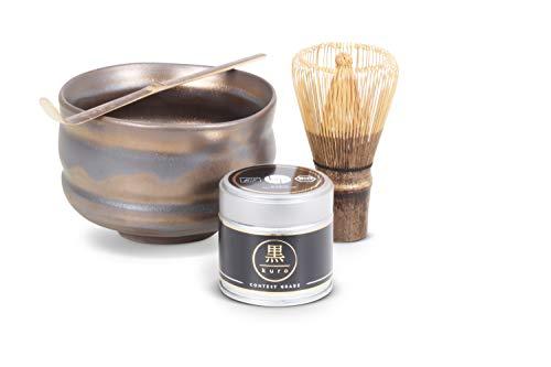 Premium Bio-Matcha-Tee aus Japan (30g) im Matcha-Set mit Zubehör – Matcha-Pulver bio-zertifiziert nach DE-ÖKO-006 (Bronze)