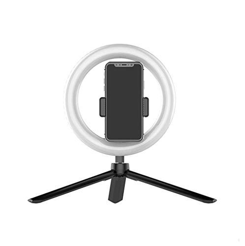 TOHOYOK Anello di Luce di riempimento del LED, autoscatto Telefono Fotocamera Studio treppiede Video di oscuramento della Luce di riempimento, 8 Polli