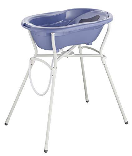 Rotho Babydesign Set de Bain Complet avec Baignoire et Support Pliant, À partir de 0 mois, Max 25 kg, TOP, Cool Blue (Bleu), 21060 0287 01