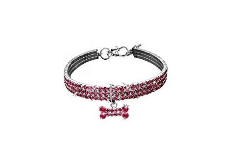 Cockapoo Collar de Perro, Pieza de diseñador, Collar Brillante para Mascotas con Gemas de Cristal y...