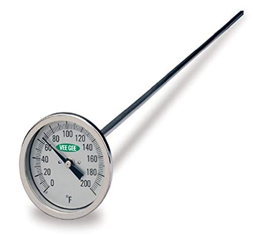 VeeGee Dial Compost Thermometer, with Glass Face, 12
