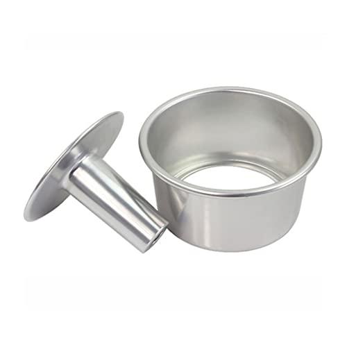 WACLT Molde de lata de pastel 6 pulgadas de óxido de metal aleación removible queso removible para hornear para hornear herramienta de pastel