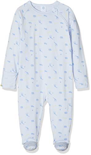 Sanetta Baby-Jungen Overall Strampler, Blau (Light Blue 50137), 86