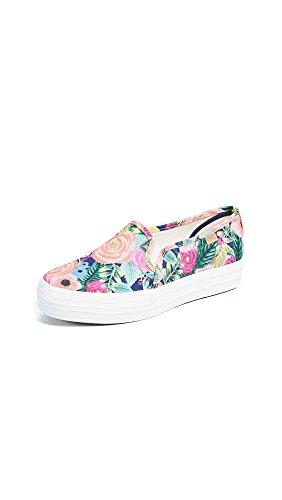 Keds Zapatillas de mujer NVY Flower WF58365, color Multicolor, talla 38 EU