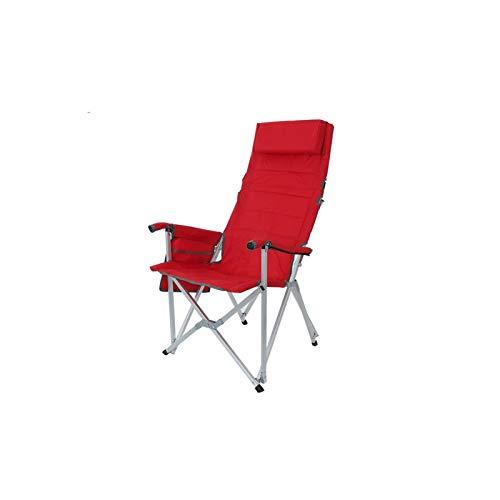 BKWJ Sillas de Camping, Silla Plegable de luz al Aire Libre, Taburete reclinable de aleación de aleación de aleación portátil, Cama de Rotura de Almuerzo Plegable, Silla de Playa, 58 * 54 * 104cm