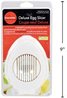 Stainless Steel Egg Slicer – Ultra-sharp and Stylish Slicer for Eggs with 3 Slicing Styles – for cutting hard boiled eggs and deliciously soft boiled eggs