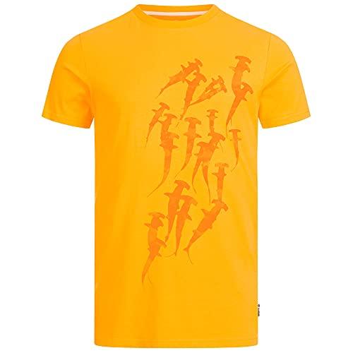 Lexi&Bö Herren T-Shirt Hammerhead Swarm für Taucher mit Hammerhai Print aus 100% Bio-Baumwolle