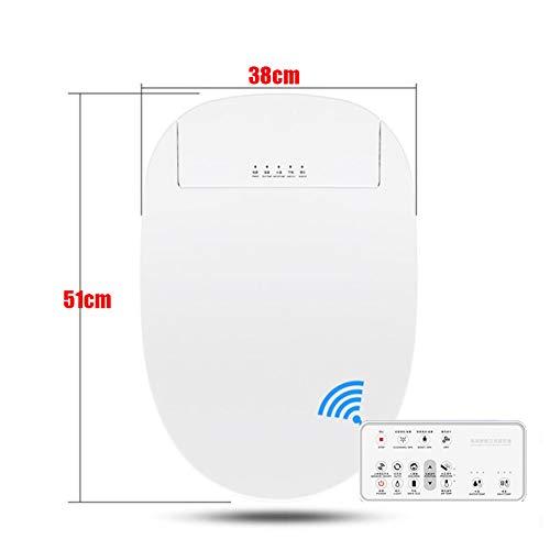 Intelligent Dusch-WC Bidet Toilette,Sitzheizung Warmlufttrockener, einfach zu entfernender, kabelloser Bright Air Deodorizer in Baumwollweiß,51cm