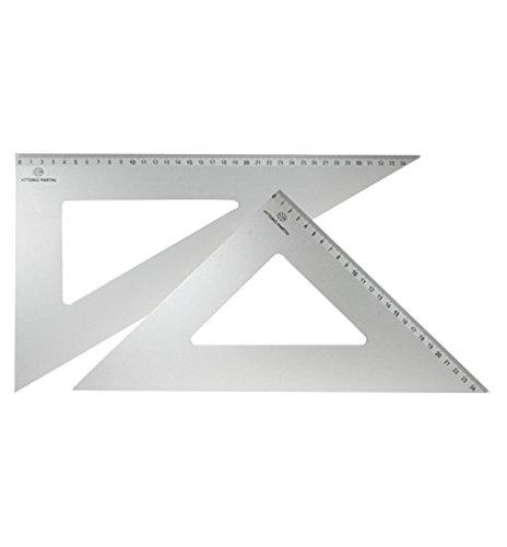 Arda Alluminio Squadra cm. 25/60