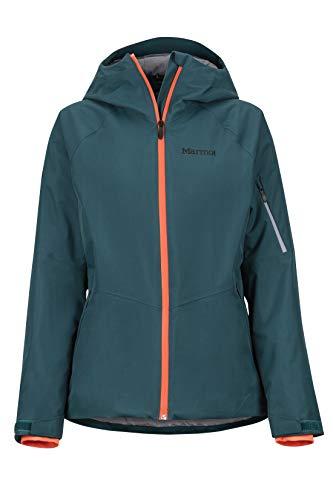 Marmot Damen Hardshell Ski- Und Snowboard Jacke, Winddicht, Wasserdicht, Atmungsaktiv Wm's Refuge, Deep Teal, XL, 79230