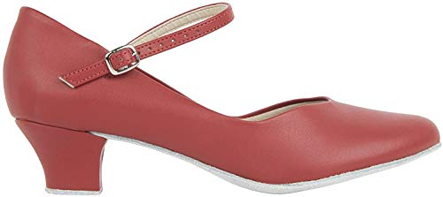 So Danca CH791 Tanzschuhe Farbe Rot GB 6.5, EU 39.5, EU 40 mit Button